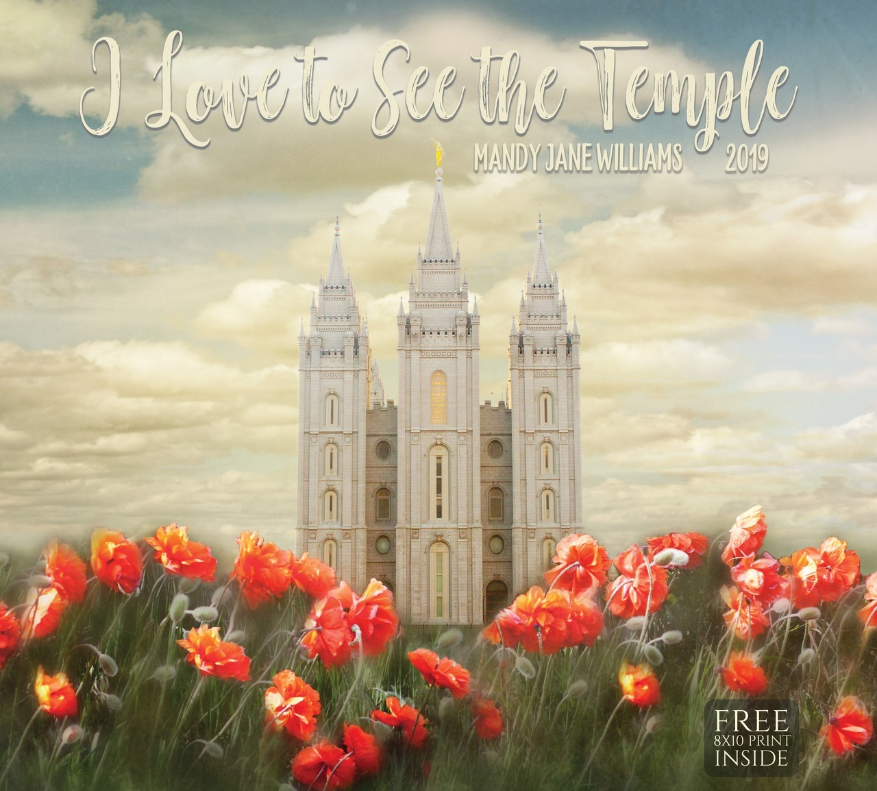 AF - 2019 Mandy Jane Williams Calendar - I Love the See the Temple (Free 8X10 Print Inside)<BR>2019年 マンデイ・ジェーン・ウィリアムズ - I Love the See the Temple (Free 8X10 Print Inside) 【壁掛け】