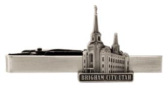 RM - Tie Bar - Brigham City Utah Silver Tie Bar<BR/>ユタ州ブリガムシティ神殿 シルバータイバー