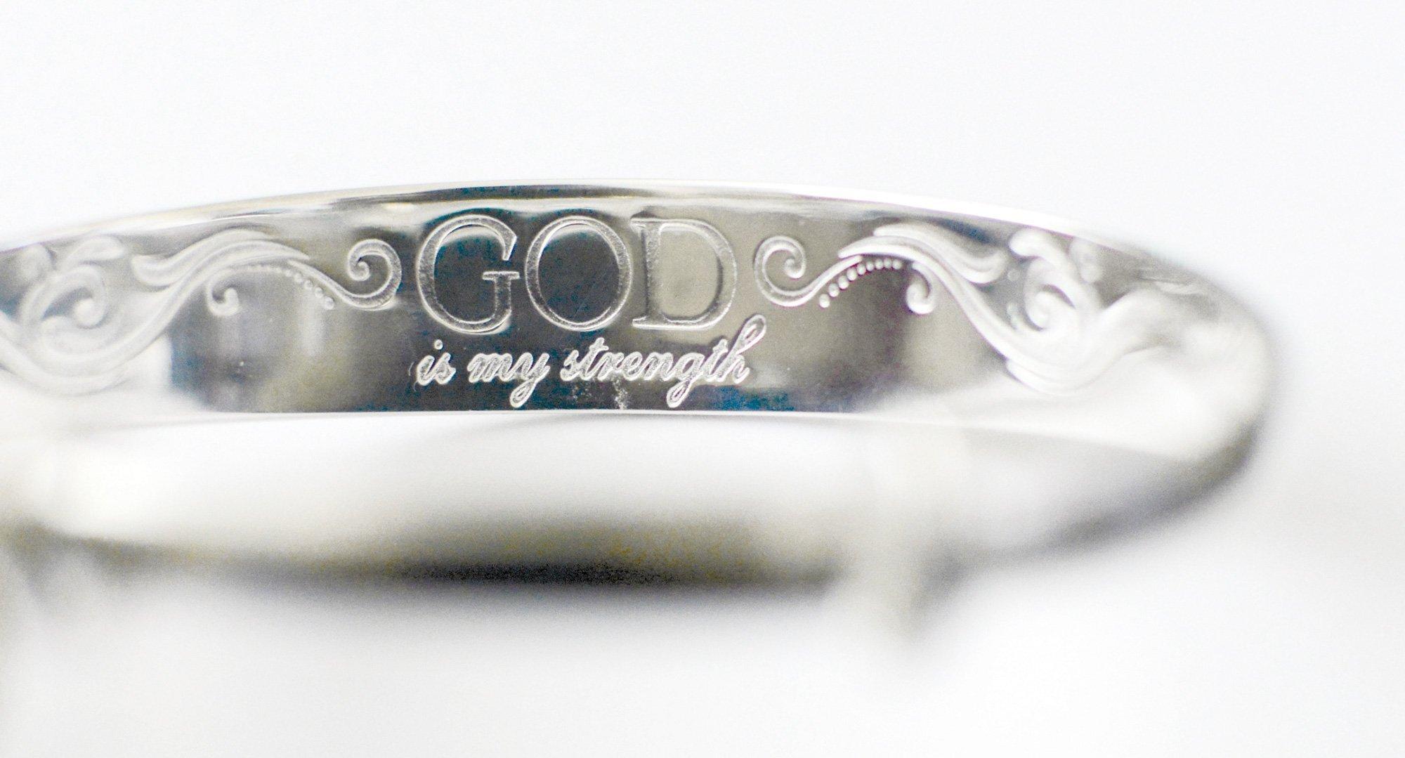CF - Bracelet - God is my strength bracelet<BR>神様は私の強さブレスレット